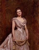 Sir Hubert von Herkomer, Emilia Francis (née Strong), Lady Dilke, 1887, Londres, National Portrait Gallery, © National Portrait Gallery. Huile sur toile, 139,7 x 109,2 cm.