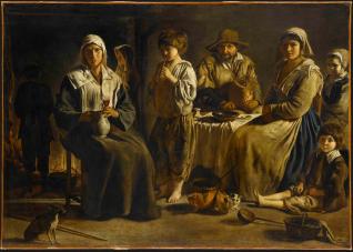 Louis Le Nain, Famille de paysans, vers 1642, huile sur toile, 113x159 cm, Paris, musée du Louvre, RF 2081 © RMN-Grand Palais (musée du Louvre) / Angèle Dequier