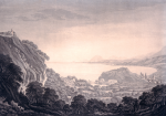 Mary Harcourt (dessinateur), Maria Catharina Prestel (graveur), A view of the town of Nice and its environs taken from the road to Villa Franca, 1790 circa, aquatinte, 37,8 x 57,4 cm, Musée Masséna, Nice.