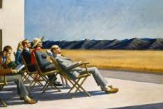 Edward Hopper, People in the Sun, 1960, huile sur toile (102, 6 x 153, 4 cm), Smithsonian American Art Museum, Washington