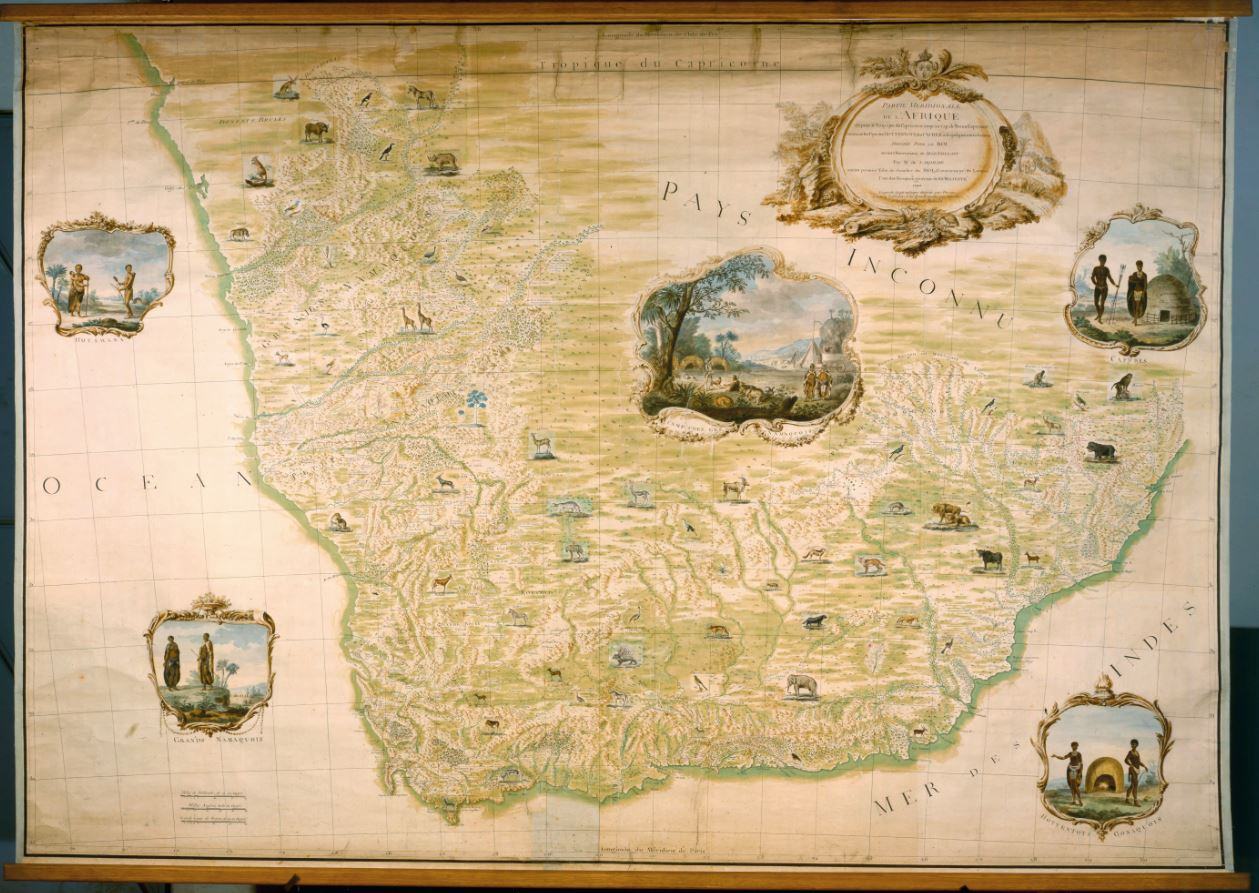 La Carte De Lafrique Australe De François Levaillantnouvelle Page